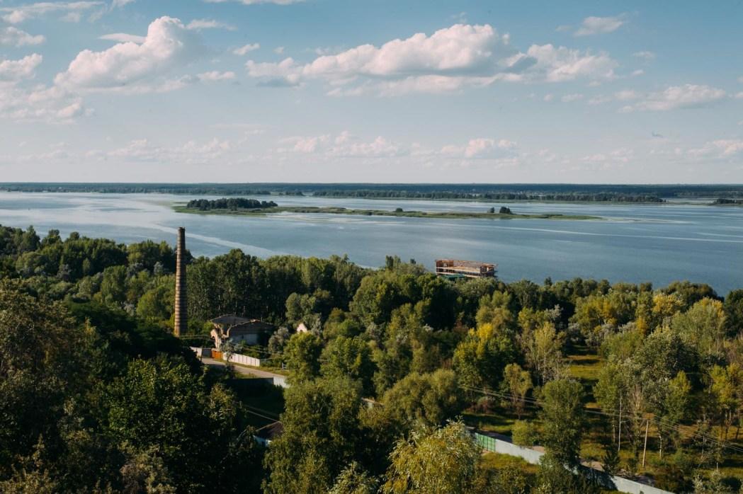 Село Стайки, вид на Днепр