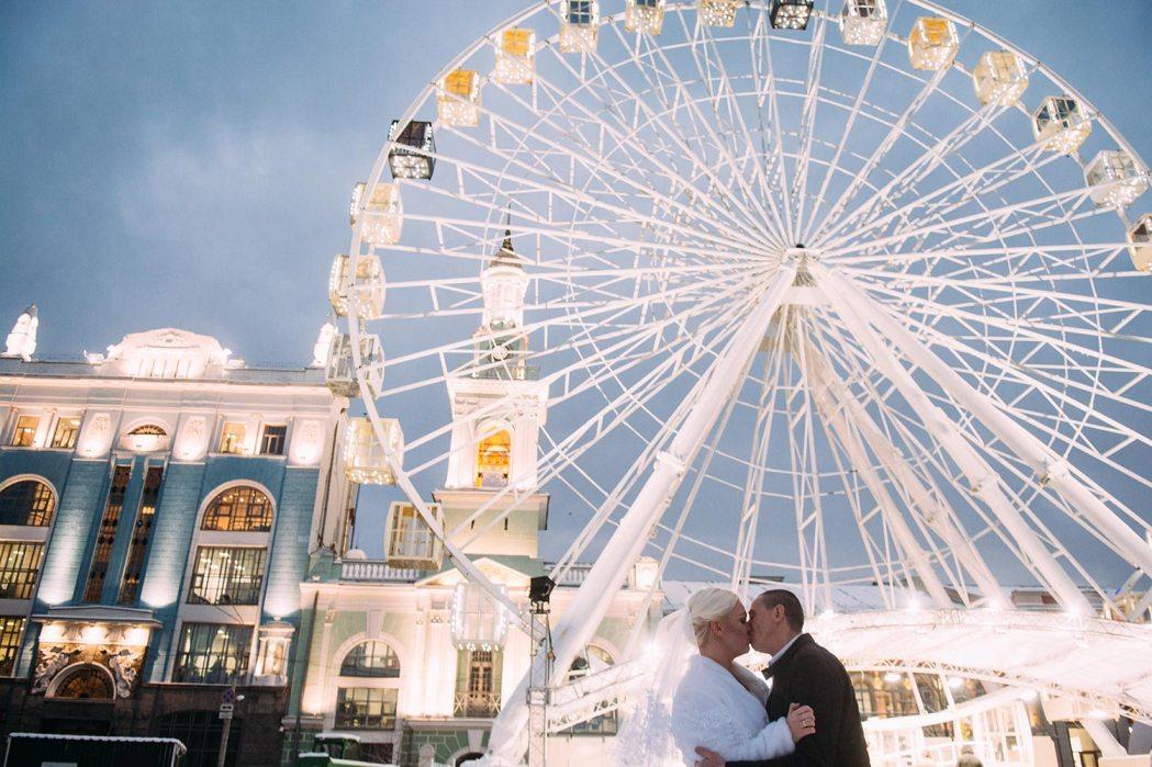 Свадьба зимой фотосессия Подол Контрактовая площадь