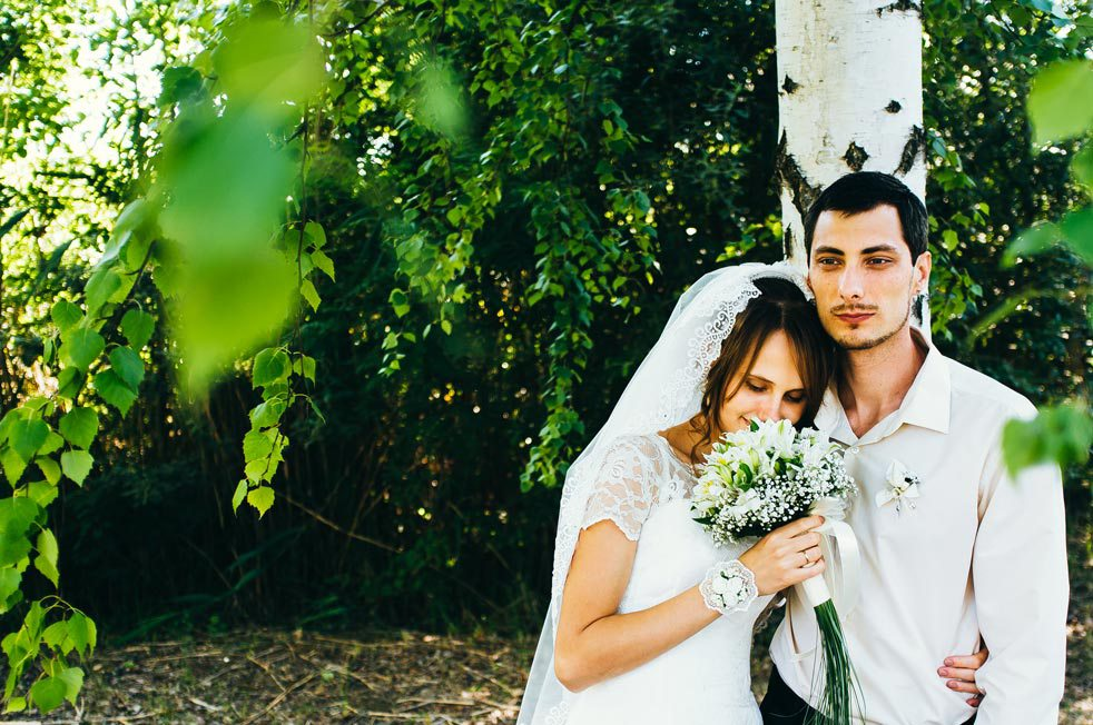 wedding reportage with film