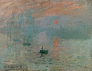Картина Клода Моне восходящее солнце