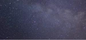 Stars in sky, oakwell at night