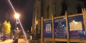 Booby Campbell's funeral - image of Huddersfield Parish Church