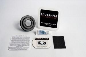 Scuba-Fix to repair  BCD's broken inflator or dump valves. Exclusive to Kirk Scuba Gear.