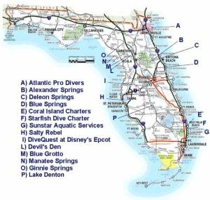 Florida Dive Map