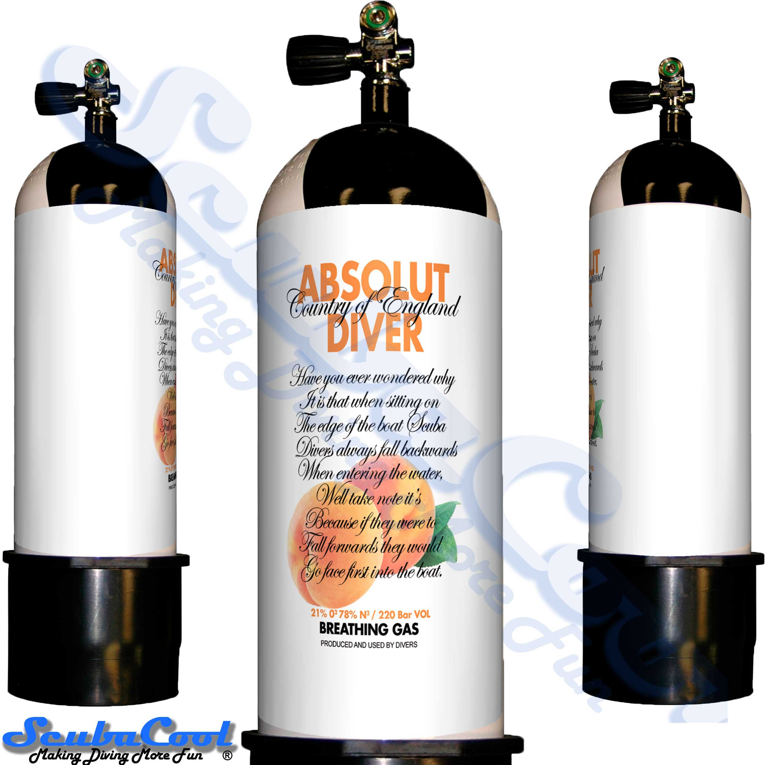 2705 Scubacool Scuba Dive Gas Cylinder Tank Cover NOT neoprene