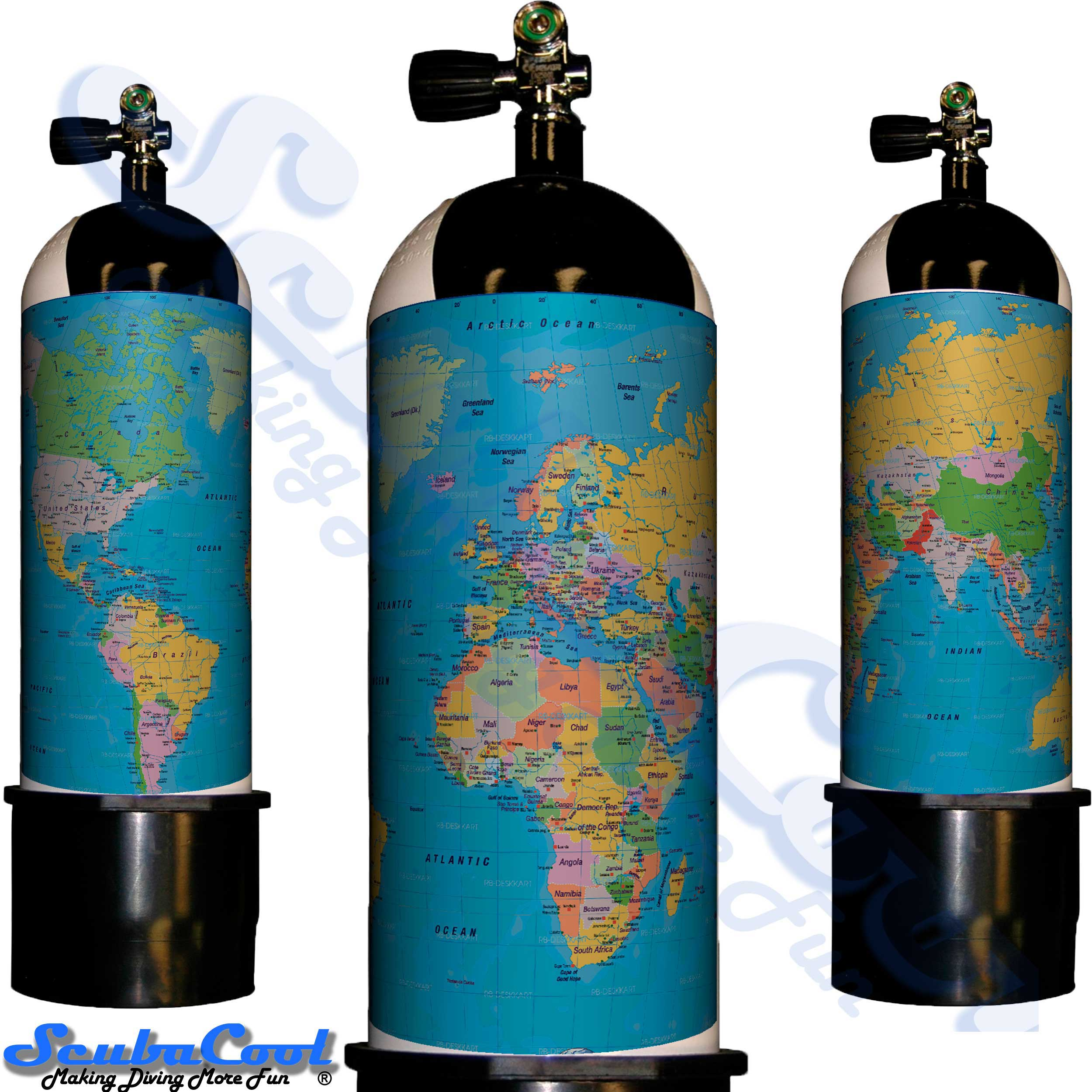 3337 Scubacool Scuba Dive Gas Cylinder Tank Cover NOT neoprene