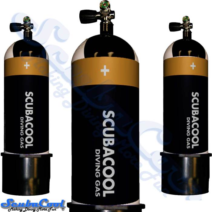 3410 Scubacool Scuba Dive Gas Cylinder Tank Cover NOT neoprene