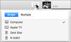 Airplay menu