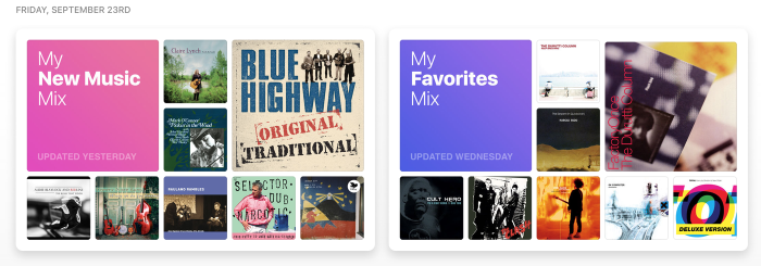 Apple music mixes