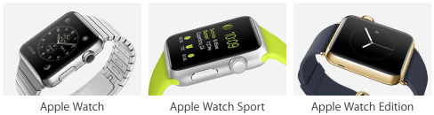 Apple watch three models