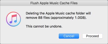 Flush apple music