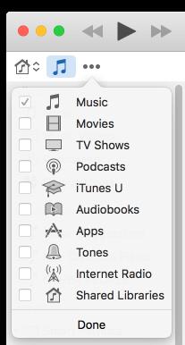 Itunes media icons