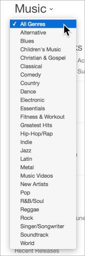 Itunes store music genres