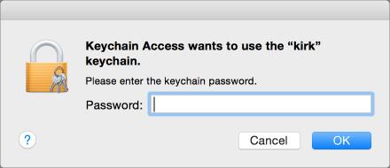 Keychain app password request