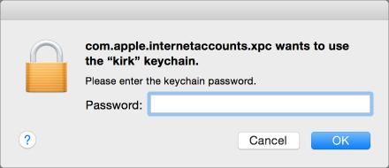 Keychain request
