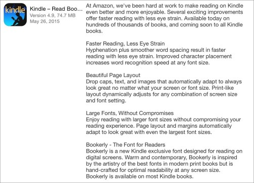 Kindle new features