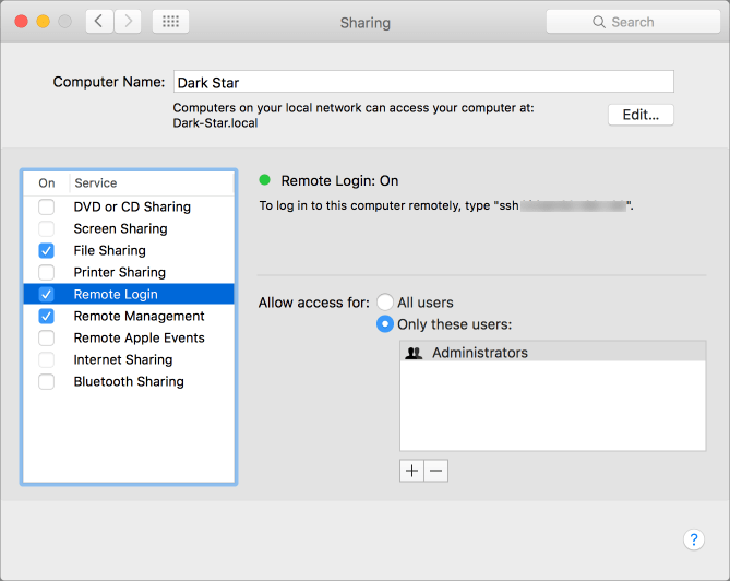 Kirkville - Turn On FTP on a Mac Running OS X El Capitan