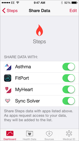 Share health data