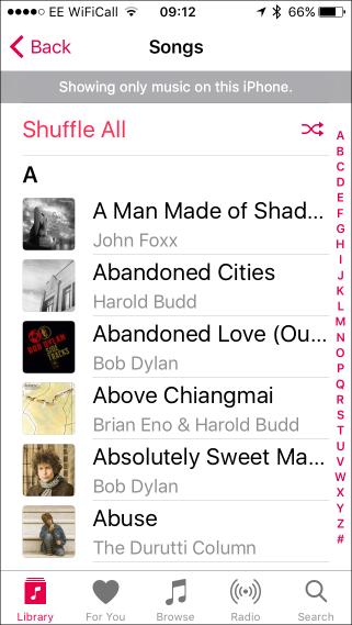 Shuffle downlloaded music