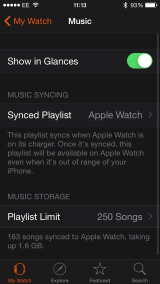 sync music apple watch