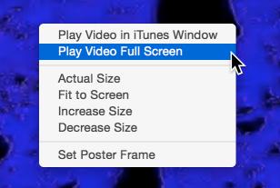 Video itunes window