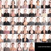 Louis Vuitton modelleri, ama makyajsız halde