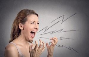 Kvinde med stress