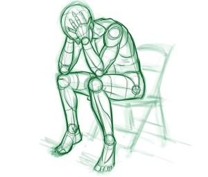 Nedtrykthed med stresssymptomer hos stresscoach Kirsten-K