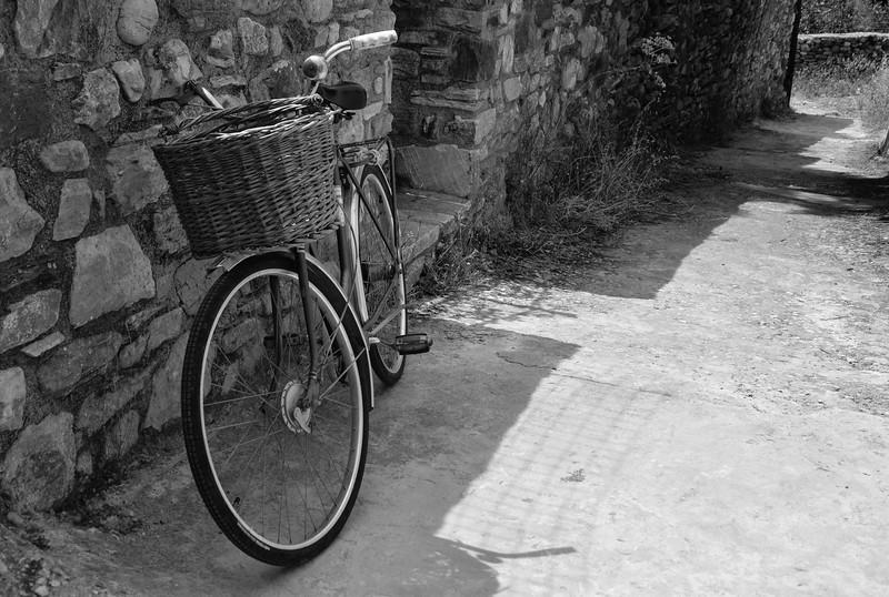 Bike on Chalki trail - Island of Naxos in Greece