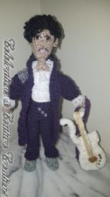 Prince, prince crochet doll, crocheting, crochet, purple rain