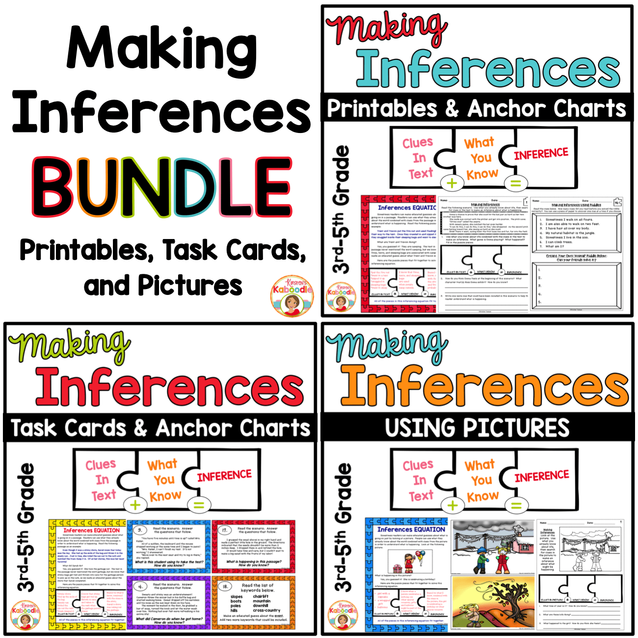 Inference Task Cards 6th Grade