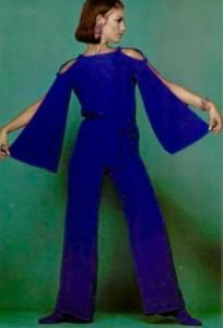 1966 blue vintage jumpsuit Christian Dior