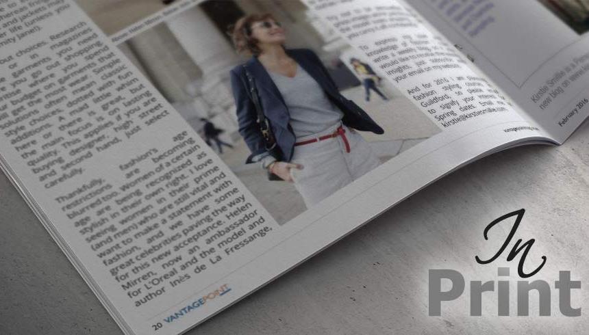 Kirstie in Print