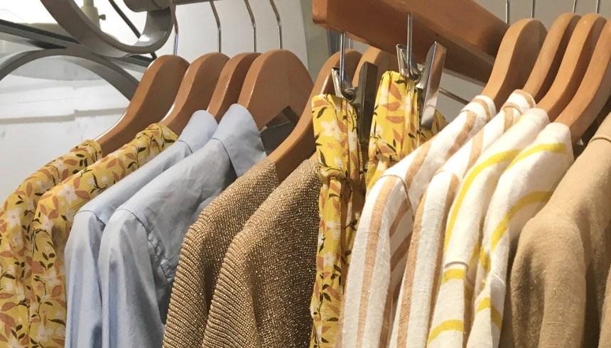 Rails of clothes