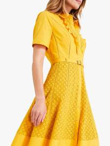yellow dress for a colour pop