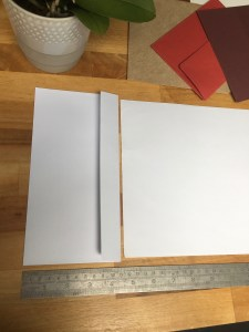 make the paper width fit the envelope size