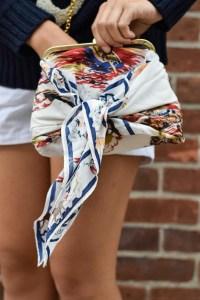 wrap scarf around a bag