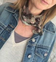 scarf as neck tie