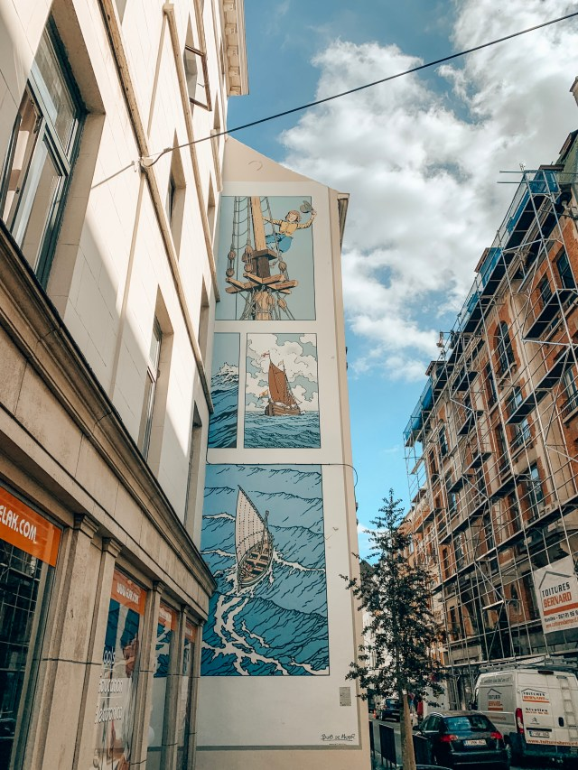 Cori the Ship's Boy, a comic book mural in Brussels, Belgium.