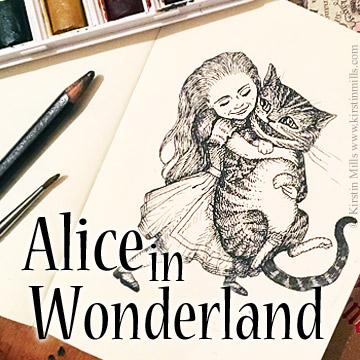 Alice in Wonderland, Illustration, Art, Artwork, Kirstin Mills, John Tenniel