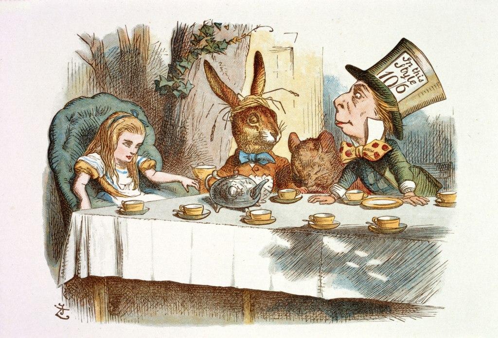 Mad Hatter Day, Alice in Wonderland, Nursery Alice, Tea Party, Mad Hatter, John Tenniel, illustration