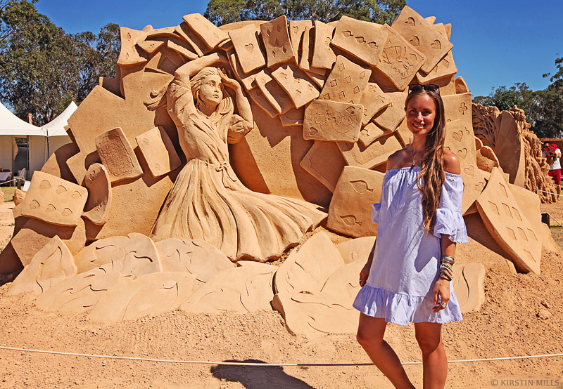 Alice in Wonderland, Sand Sculpture, Sand, Sand Sculpting, Sand Sculpting Australia, Exhibition, Lewis Carroll, Fantasy, Sculptures, Review by Kirstin Mills