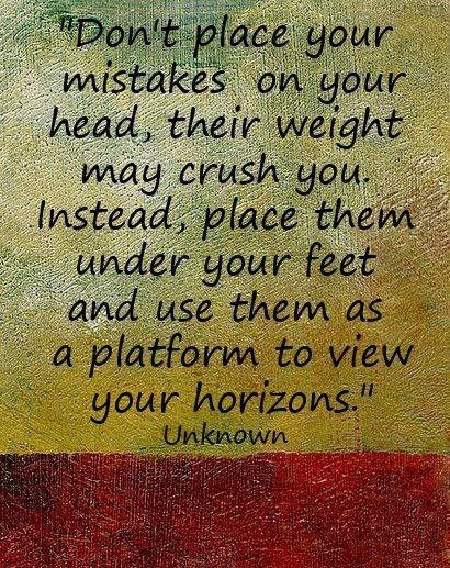 Standing on a fabulous platform of mistakes