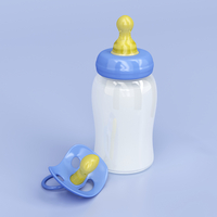 Milk bottle and pacifier