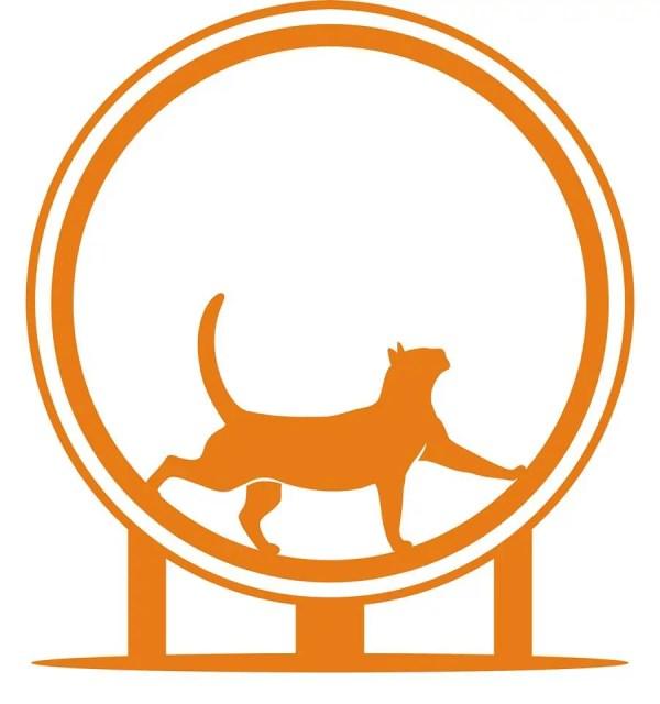 Ferris Exercise Cat wheel logo