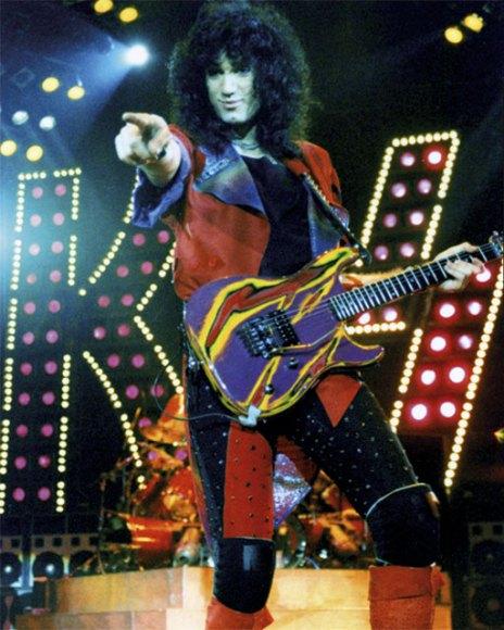 Bruce på sin andra USA-turné med Kiss.