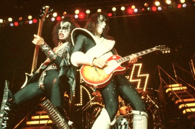 Gene Simmons and Ace Frehley in KISS Concert