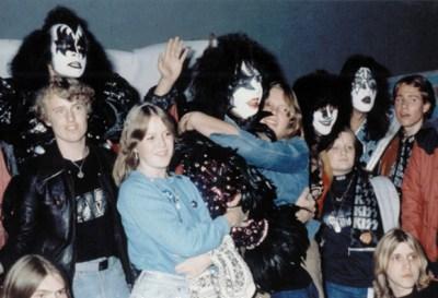 KISS con los fans en Gothenburg, Suecia, 10 Octubre 1980