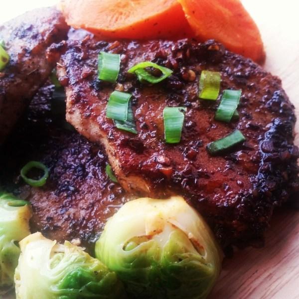 Sweet & Sour Glazed Pork Chops (Boneless)