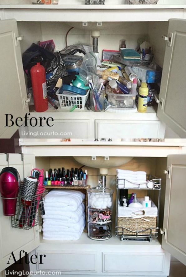 before and after cabinet makeover